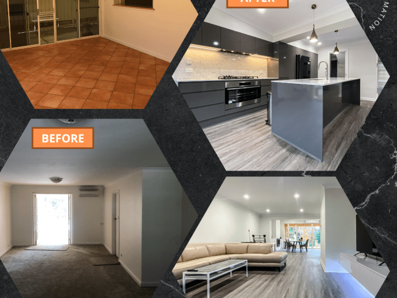 Open living and Kitchen Renovation